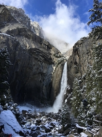 Lower Yosemite Falls - Dec