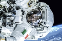 Luca Skywalker Luca Parmitano during his first spacewalk making installations on ISS and preparing for new Russian module  July