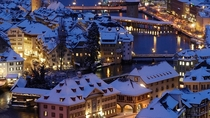 Lucerne Switzerland rooftops  by unknown