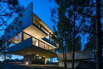 Luciano Kruk House made of Wood Formed Concrete
