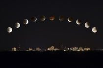 Lunar eclipse above Yellowknife from April