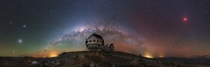 Lunar Eclipse and Milky Way over Chile