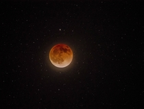 Lunar Eclipse image with lots of stars One image of a coming time lapse sequence