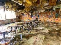 Lunchroom of an abandoned juvy center in Atlanta closed in the early s