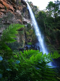 Lush minor waterfall Graskop Mpumalanga South Africa