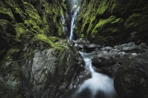 Lush rainforests canyons and waterfalls This one is unnamed but incredibly beautiful North Vancouver BC  tristantodd