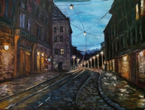 Lviv Painted by me Oil on canvas x cm