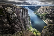 Lysefjord from Kjerag Norway  Photo by Giuseppe Milo