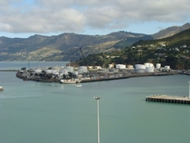 Lyttelton Port towards the oil terminal at Cyrus Williams Quay