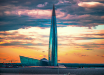 m high Lakhta Center in Saint Petersburg is the tallest building in Europe and Russia The -story skyscraper will be the new headquarters of Russian energy giant Gazprom