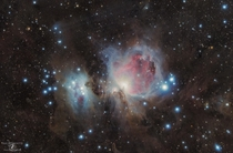 M Orion Nebula and Running Man Nebula shot  miles outside SLC Utah