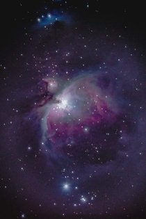 M Orions Nebula Taken on a windy night and tracking was playing up so only x s exposures used