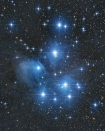 M Pleiades open cluster