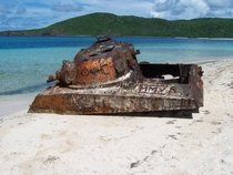 M- Sherman Tank on Flamenco beach Culebra Island Puerto Rico