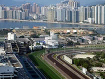 Ma On Shan new town sewage treatment works and Sha Tin racecourse Hong Kong