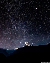Machhapuchhare Nepal under the stars