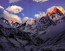 Machhapuchhare Sunset - Annapurna Base Camp Nepal