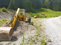 Machinery left at a small quary in NW switzerland