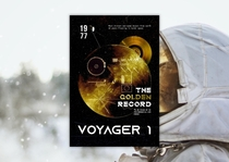 Made a poster of Voyager  the farthest man-made object from earth