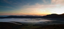Made it above the inversion Perthshire Scotland  toffersonn