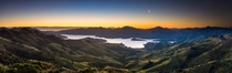 Made my way to the beautiful teptotu The Place of the Fairies to watch the first sunset of  over Akaroa Harbour New Zealand