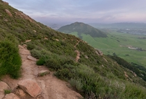 Madonna mountain from Bishops peak San Luis Obispo CA x