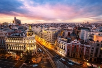 Madrid Spain from the rooftops