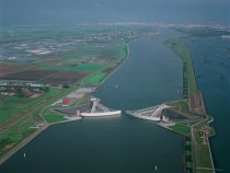 Maeslantkering The Netherlands These gigantic ft radius movable dams can protect the entire Rotterdam area from the sea by closing the entire river off