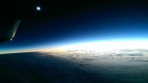 Maginificent photo of the solar eclipse from a plane