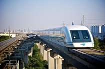 Maglev magnetic levitation Train in Shanghai
