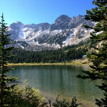Magnificent Montana Mirror Lake in the spectacular Lee Metcalf Wilderness