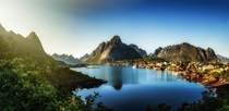 Magnificent Village - Reine Norway in afternoon light