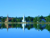 Mahone Bay Nova Scotia The three churches