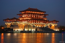 Main palace of  Tang Dynasty Paradise park in Xian Shaanxi province China