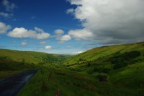 Main road through Glendun Co Antrim Northern Ireland