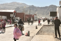 Main street of Tsengel a remote settlement in mountainous far-western Mongolia inhabited primarily by ethnic Kazakhs
