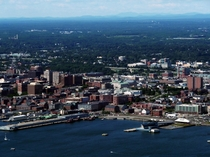 Maine land of small cities Portland Maine