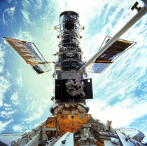 Maintenance on the Hubble Telescope