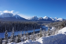 Majestic Mountains in Banff National Park Alberta