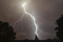 Major lightning strike from attic window -  - eindhoven the netherlands