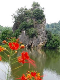 Malaysia Ipoh This Rock is called the outcrow haven and is approx  million years old