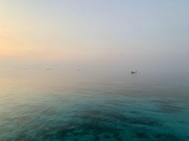 Maldives - cant tell where sky ends and ocean begins oc