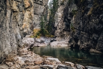 Maligne Canyon near Jasper Alberta during Autumn