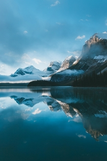 Maligne Lake at Sunrise Canada