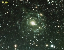 Malin  the largest known spiral galaxy  light years in diameter but very low surface brightness