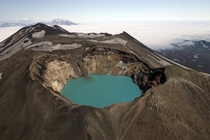 Maly Semyachik volcano and crater lake - Kamchatka Peninsula Russia  by Phillipe Crochet