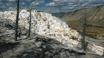 Mammoth Hot Springs Terraces in Yellowstone It looks surreal