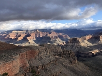 Managed to catch this shot as the sun broke through the morning fog Grand Canyon AZ from the South Kaibab Trail