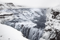 Managed to fight through a blizzard to see Gullfoss Iceland