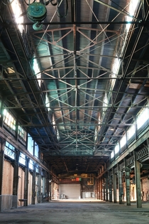 Managed to get a few last photos of this old steel mill days before demolition started Newark NJ More in comments